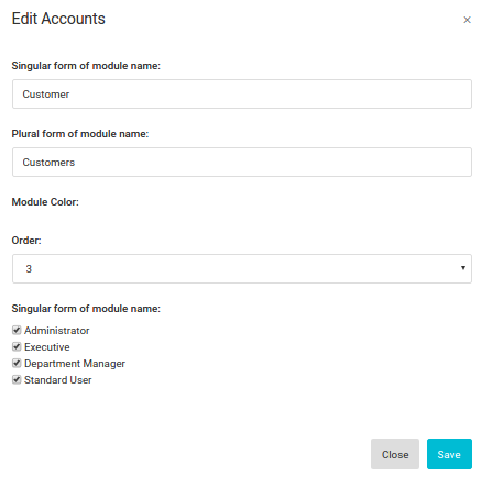 Rename Modules in CRM